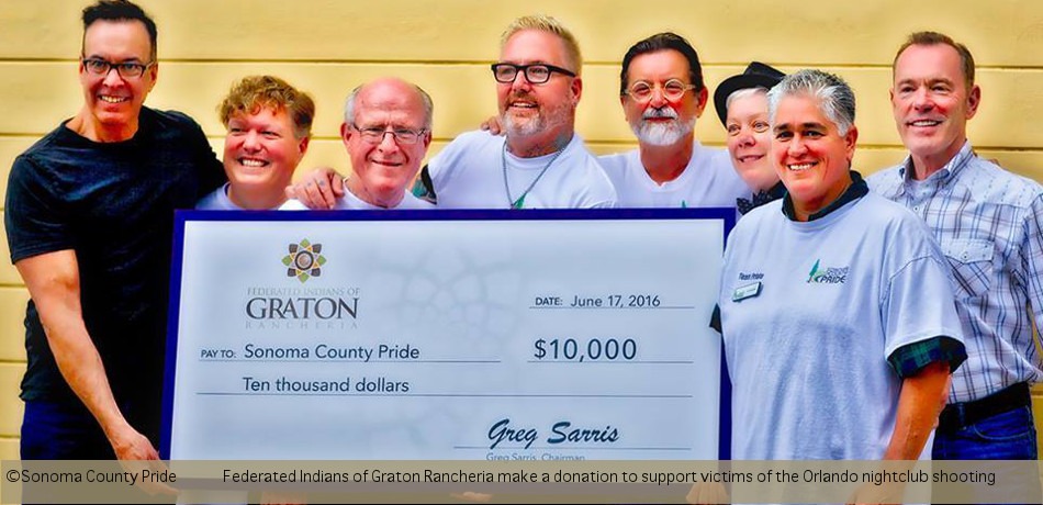 Sonoma Co Pride Donation